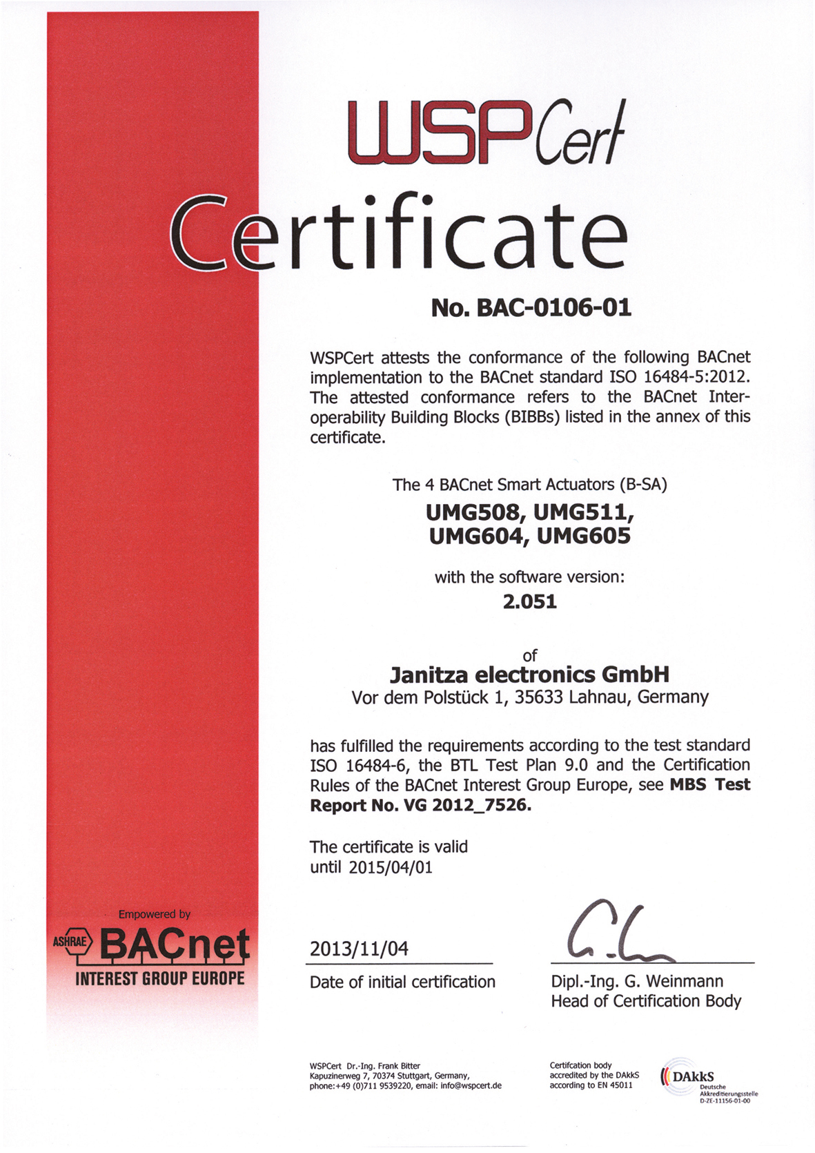 Image 4: The certificate of a national accreditation body confirms the conformity according to EN ISO/IEC 17025
