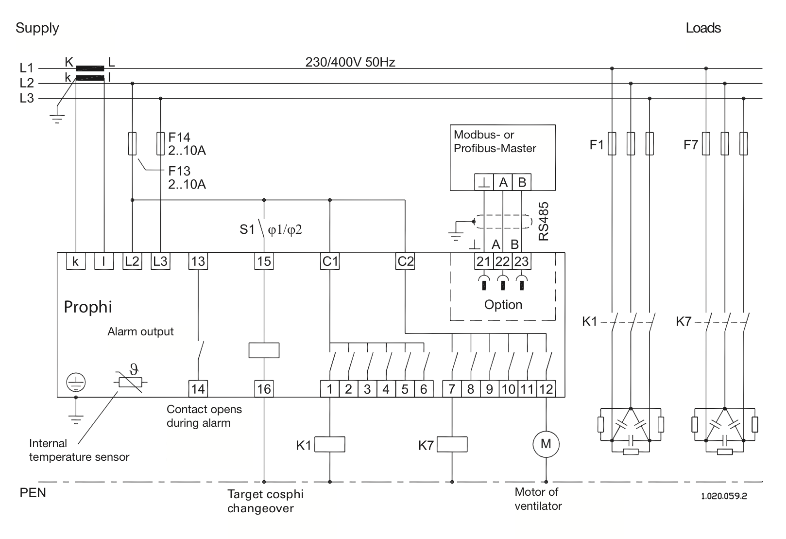Power Factor Controller Prophi Changeover Relay Technical Data