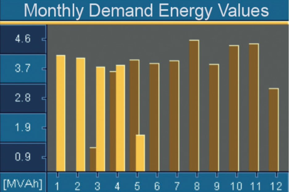 Fig.: Large colour display, e.g. 12 monthly demand values